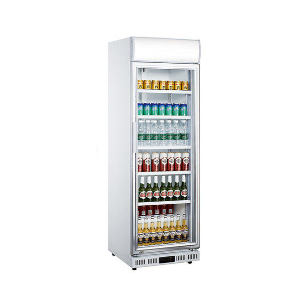 230L Upright Single Door Commercial Display Refrigerator With Adjustable Feet