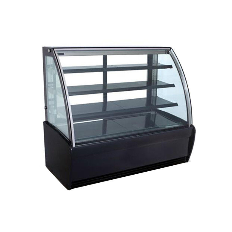 Fan Cooling Stainless Steel Base Refrigerated Cake Display Cabinets 500L Capacity With Sliding Door with 1500mm Length