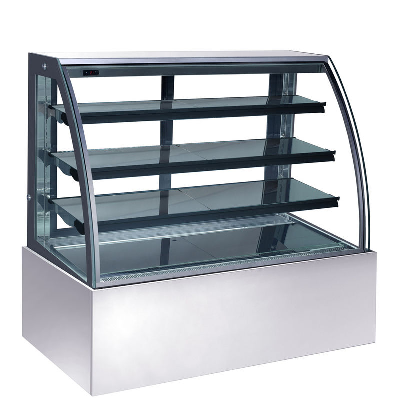 Portable 270L Refrigerated Cake Display Cabinets Deluxe Appearance With Marble Base with 900mm Length