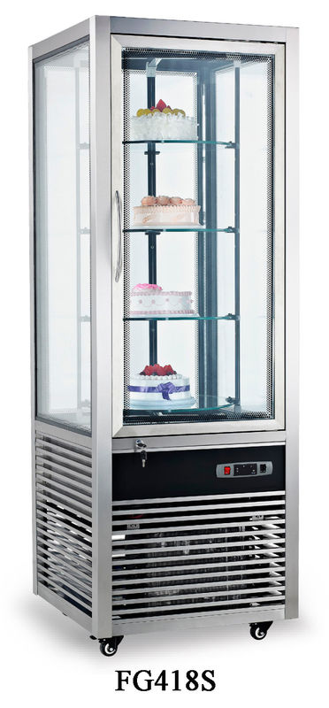 Auto Defrost Refrigerated Cake Display Cabinets 418L Electricity Power Source