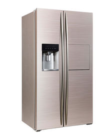 Chine 598L Side By Side Refrigerator Freezer Super Freezing CE Approval With Ice Maker And Home Bar usine